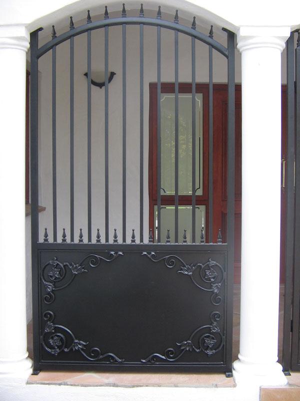 Pedestrian Gates Wooden Timber Metal Concept Steel